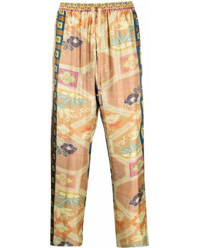 Прямые с завышенной талией желтые брюки Pierre-louis Mascia