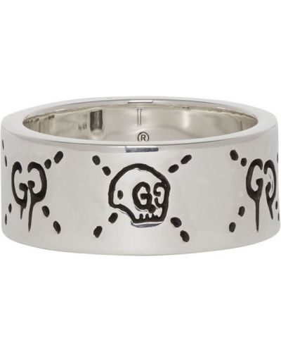 Pierścień srebro Gucci