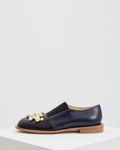 Синие туфли для офиса Marni