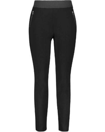 Czarne spodnie z wiskozy Samoon