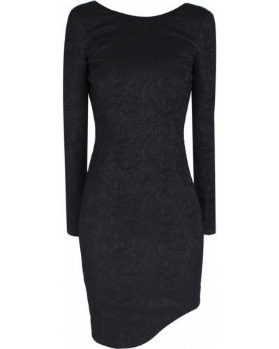 Шерстяное черное платье с длинными рукавами Jay Ahr