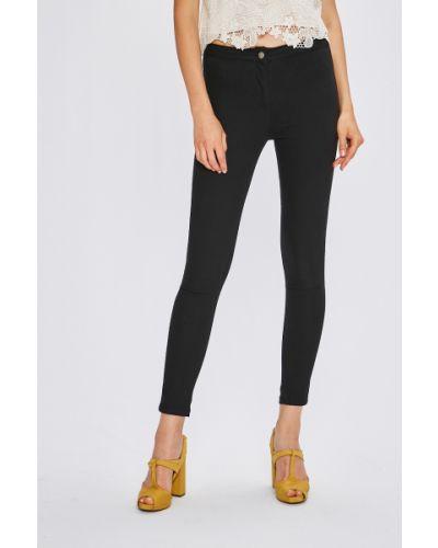 Черные брюки с поясом узкого кроя Miss Poem