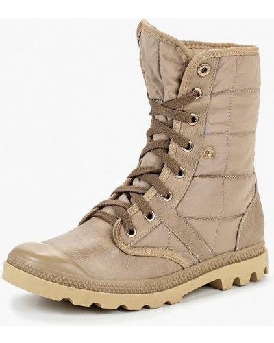 Кожаные ботинки осенние бежевые Max Shoes