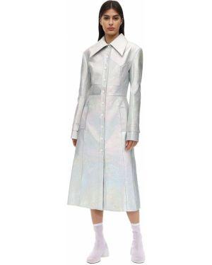Кожаное пальто с воротником с карманами Matériel