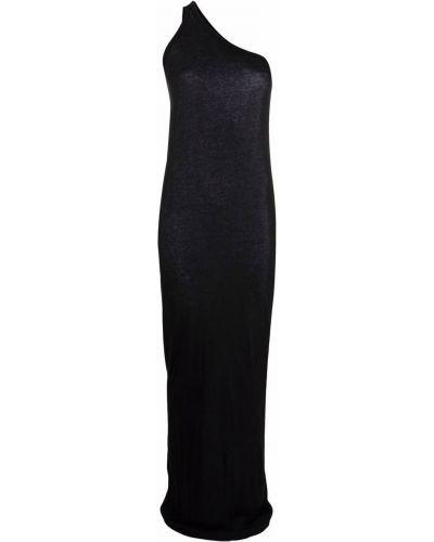Sukienka długa bawełniana - czarna Rick Owens