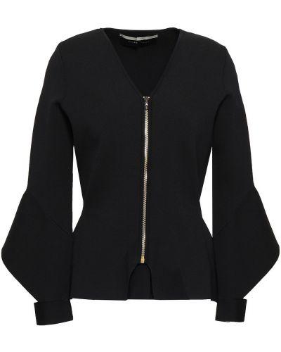 Вязаная черная куртка с манжетами Roland Mouret