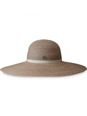 Beżowy kapelusz bawełniany Maison Michel