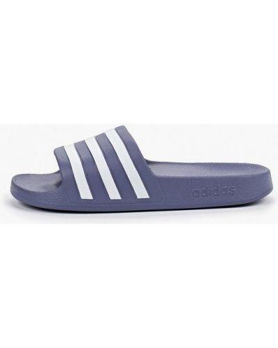 Сланцы синий Adidas