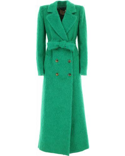 Zielony płaszcz bawełniany z długimi rękawami Twin Set By Simona Barberi