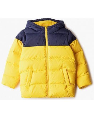 Утепленная желтая куртка United Colors Of Benetton