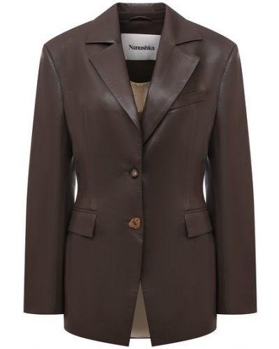 Пиджак на подкладке - коричневый Nanushka