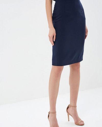 Синяя юбка карандаш с рукавом 3/4 Tutto Bene