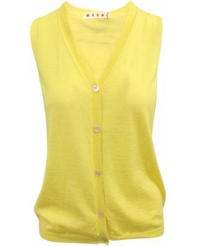 Żółta kamizelka Marni Vintage