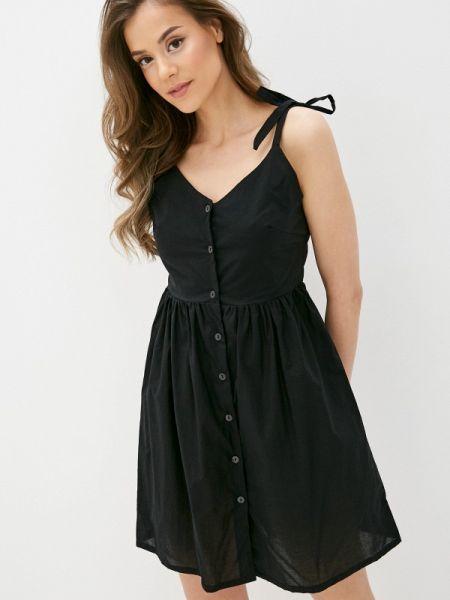 Пляжное черное пляжное платье Deseo