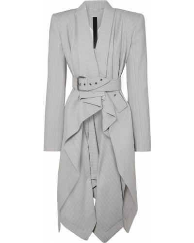 Шерстяной серый пиджак с подкладкой Gareth Pugh