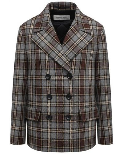 Шерстяной серый пиджак с подкладкой Dries Van Noten