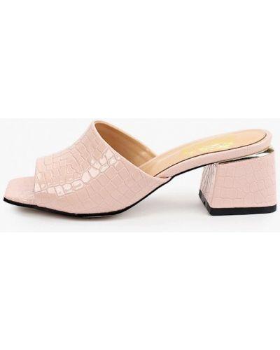 Розовые лаковые кожаные сабо Inario