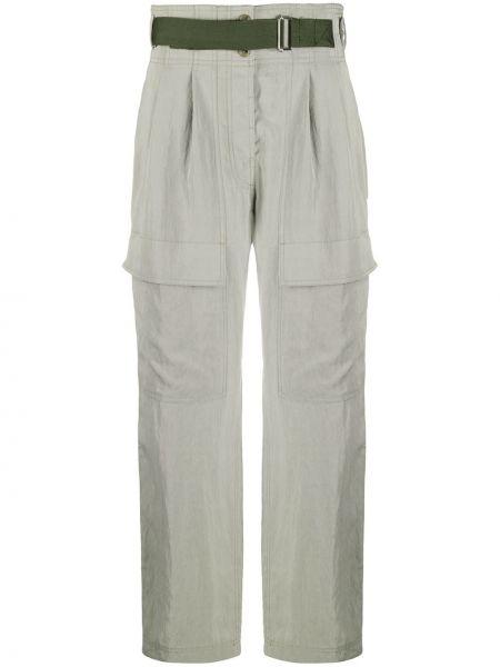 Зеленые прямые брюки карго с карманами Paul Smith