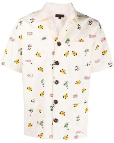 Koszula krótki rękaw bawełniana w kwiaty Clot