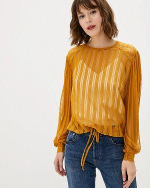 Желтая блузка с длинным рукавом Sweewe