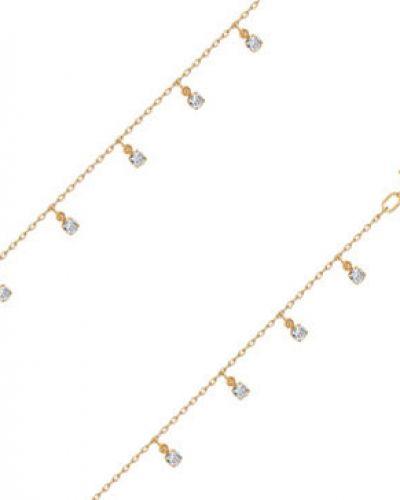 Золотой браслет с фианитом с камнями Sokolov