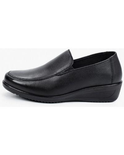 Кожаные туфли - черные Kari