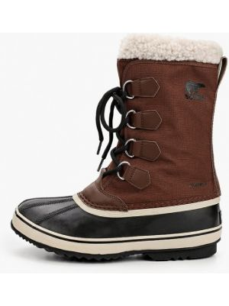 Текстильные коричневые ботинки осенние Sorel