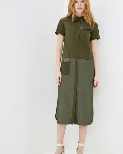 Платье платье-рубашка зеленый Ricamare