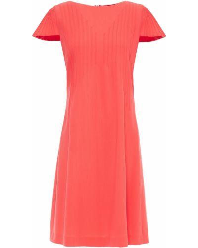 Шерстяное красное платье с карманами Giorgio Armani