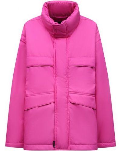Розовая куртка из полиэстера Balenciaga