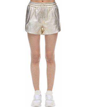 С кулиской топ золотой металлический с карманами Coco Cloude