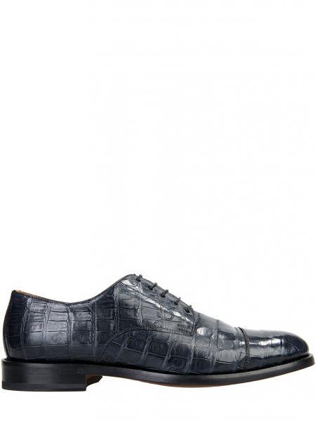 Туфли на шнуровке из кожи крокодила Doucal's