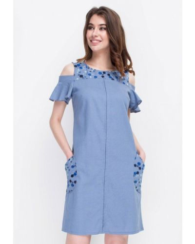 Платье весеннее голубой Ruta-s