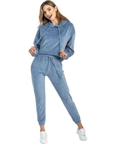Niebieski dres welurowy Swing Polish Fashion Concept