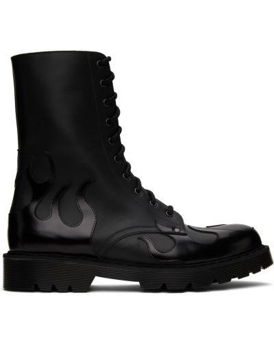Ботильоны на шнуровке - черные Vetements