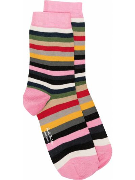 Хлопковые розовые носки с нашивками Paul Smith