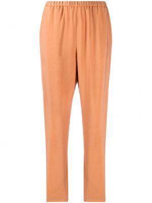 Оранжевые плиссированные укороченные брюки с поясом Forte Forte