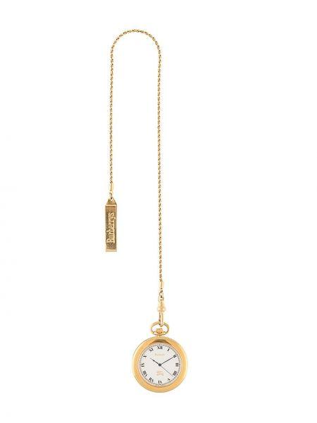 Золотистые кварцевые часы золотые позолоченные Burberry Pre-owned