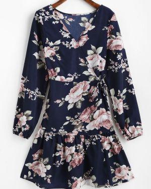 Платье мини с запахом макси Zaful