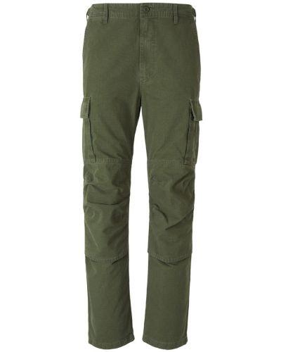 Zielone spodnie z haftem Balenciaga
