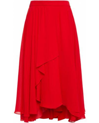 Текстильная юбка с разрезом с драпировкой Mikael Aghal