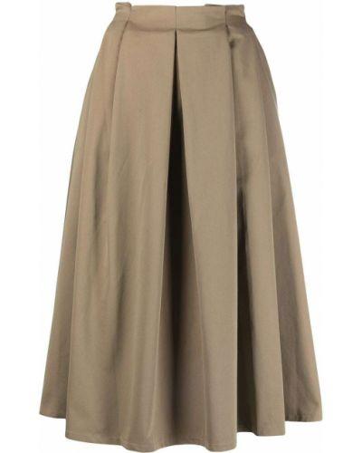 С завышенной талией бежевая плиссированная юбка SociÉtÉ Anonyme