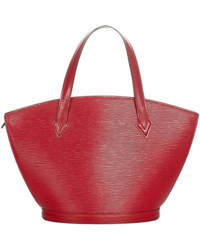 Czerwony pasek skórzany Louis Vuitton Vintage