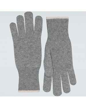 Rękawiczki z mankietami beżowy Brunello Cucinelli