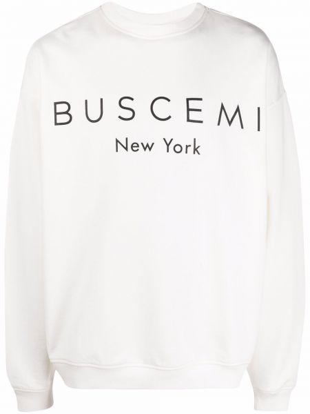 Biała bluza długa z długimi rękawami bawełniana Buscemi