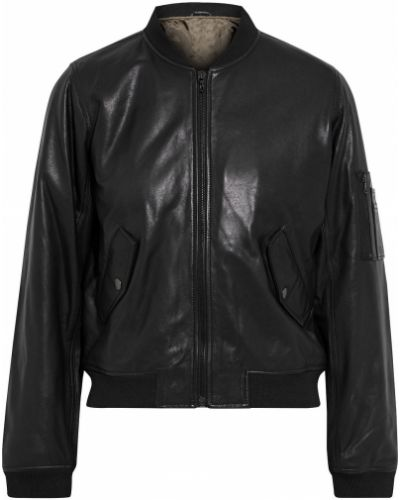 Кожаная куртка - черная Majestic Filatures