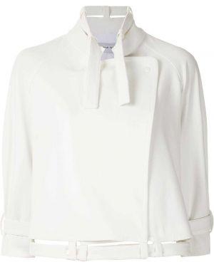 Прямое белое пальто с рукавом реглан Gloria Coelho
