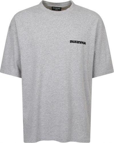 T-shirt bawełniana - szara Balenciaga
