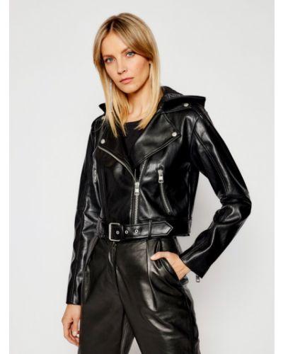 Czarna kurtka skórzana Calvin Klein Jeans