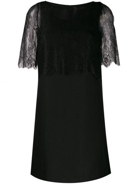 Платье с кружевными рукавами черное Twin-set